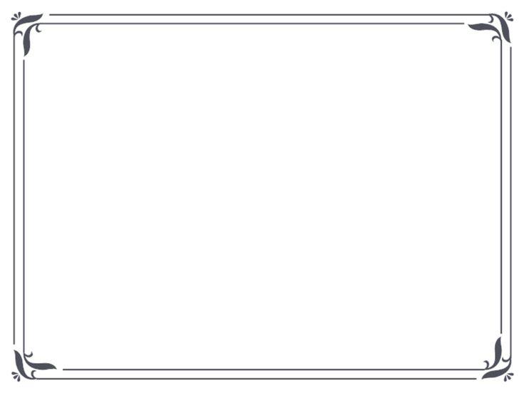 Simple blue certificate border k pkeretek pinterest for Free garden border designs