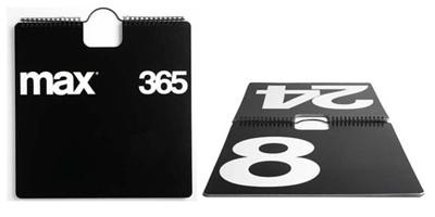 Max 365 Perpetual Wall Calendar  Price: $74.00  Designer: Massimo Vignelli