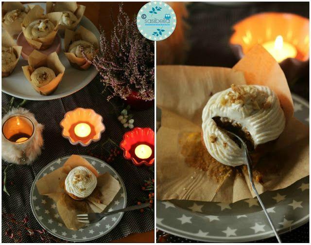 Kürbis-Gewürz-Cupcakes mit Zimt Frosting | SASIBELLA