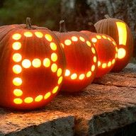 Boo!  Carve spooky words into a few pumpkins for your guests during the harvest season.