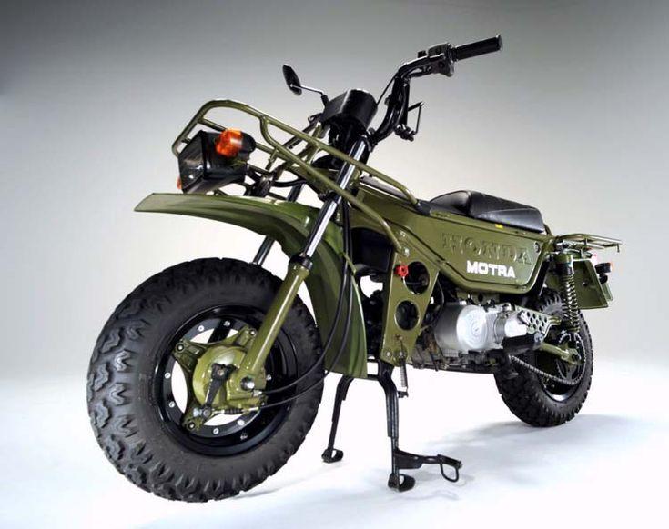 モトラ、ホンダの50ccミリタリー調のクラッシック・原付バイク - ランシモ