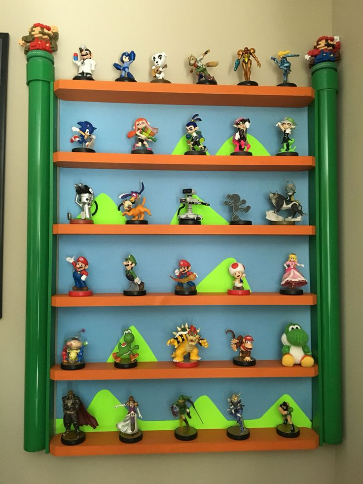 Amiibo shelf, homemade about $20