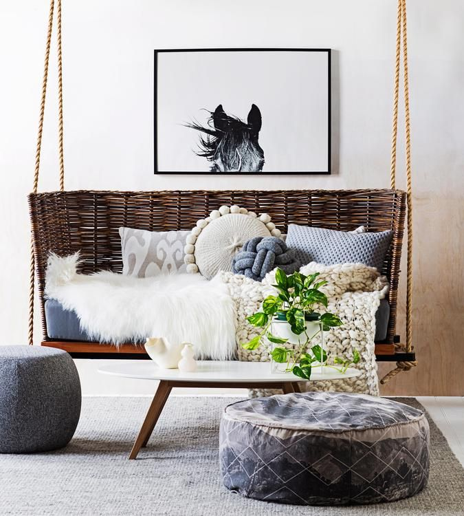 523 best wsj design decorating images on pinterest a for Hanging chair spring