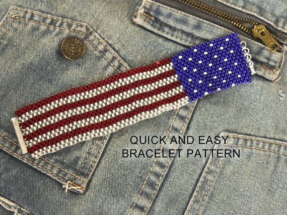 81 best images about peyote stitch on pinterest loom for Patriotic beaded jewelry patterns