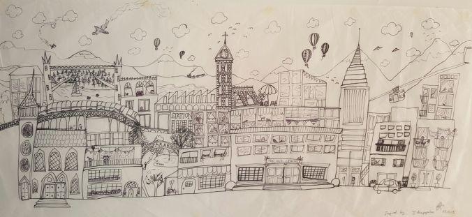 Kate's cityscape ~ Julia Anastasopoulos Contemporary Artist inspiration
