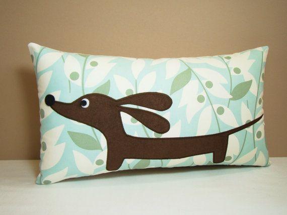 Wiener Dog Dachshund Pillow
