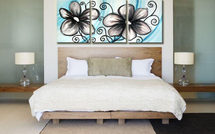 Dekoráld a hálószobád hangulatos virágos vászonképekkel. www.ovardesign.hu
