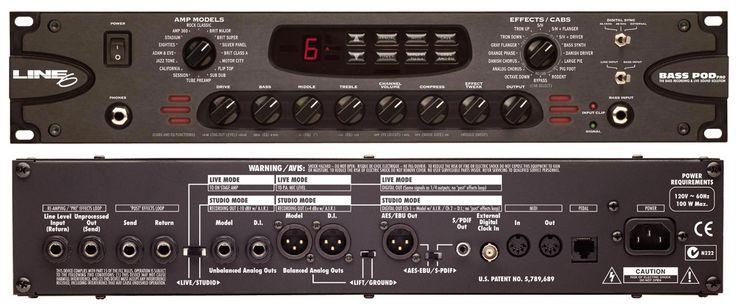 Bass Pod  pro Basgitaar preamp en effect processor (Te Koop)