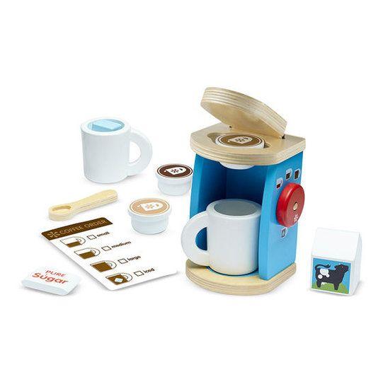 Houten speelgoed espressoapparaat - Speelgoed van hout, kinder verkleedkleding, speelgoed poppen en pluche knuffels