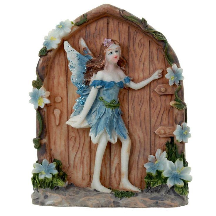 Secret Flower Fairy Door - Blue
