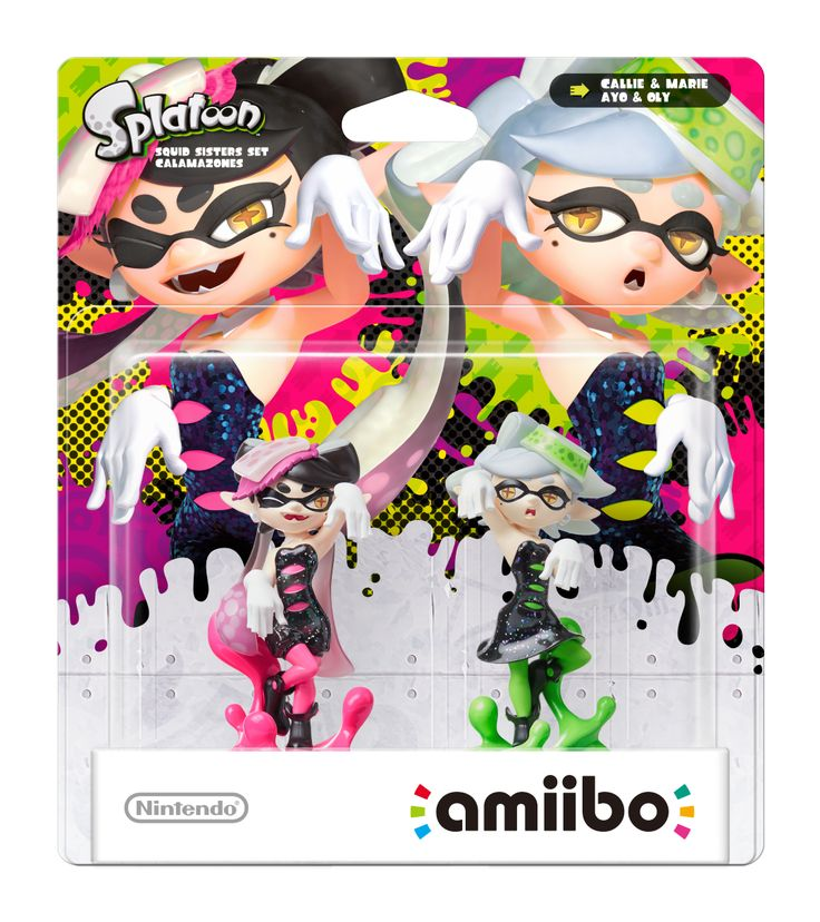 Here's A Better Look At The New Splatoon Amiibo