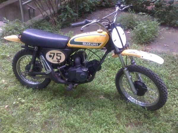 1974- suzuki tm75   vintage dirt   pinterest   dirt biking