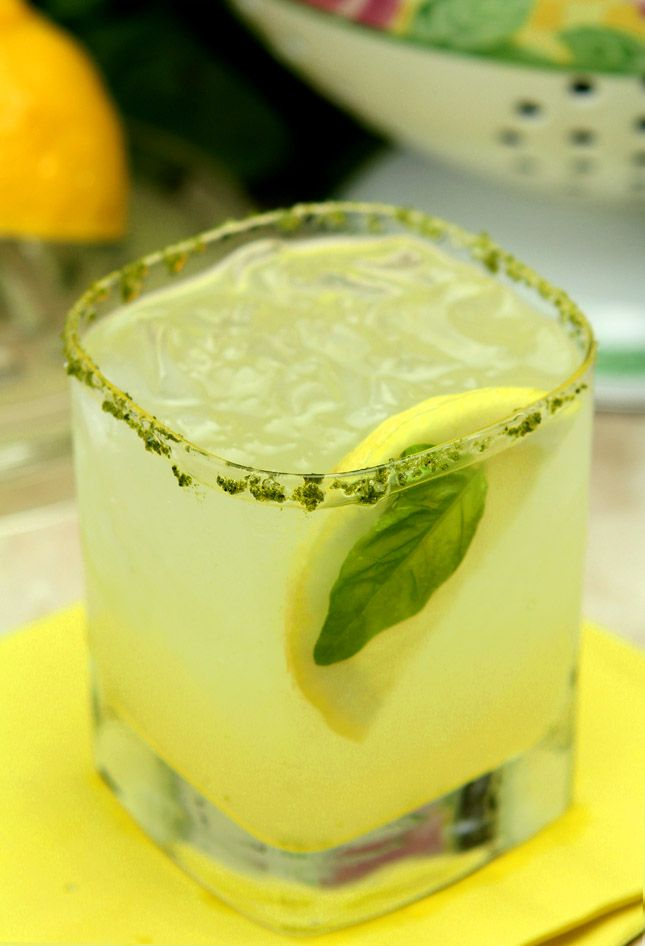 Lemon Basil Margarita - Creative Culinary Food & Cocktail Recipes