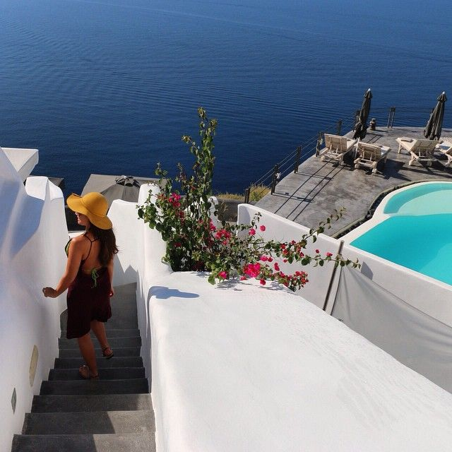 Amazing view of #Santorini! #AndronisExperience #LuxuryHotel Photo credits: @kaylaheathcote