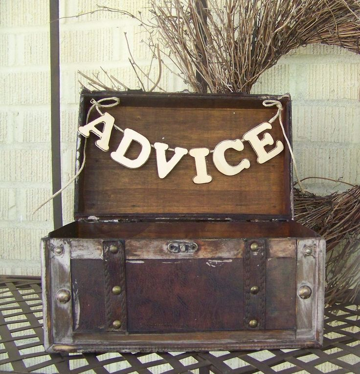 Shabby Chic Wedding  Advice Box-Rustic Chic-White Washed. $46.00, via Etsy.