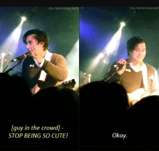 YOU DO NOT TELL FRANK IERO TO STOP BEING CUTE<<<i mean you kinda can't. it's just who he is, a lil cutie pie