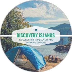 Camping in Canada's Discovery Islands. Magic only found on a Kayaking Vacation.