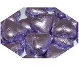 A bulk 1kg bag of Dolci Doro Lilac Chocolate Hearts.