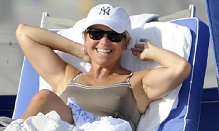 Katie Couric Bathing Suit Katie Couric Signs Off From