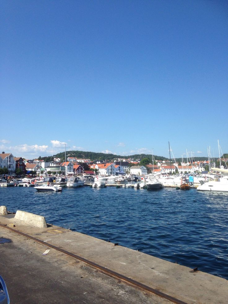 Lillesand harbor in July summer time