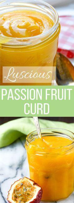 Luscious Passion Fruit Curd