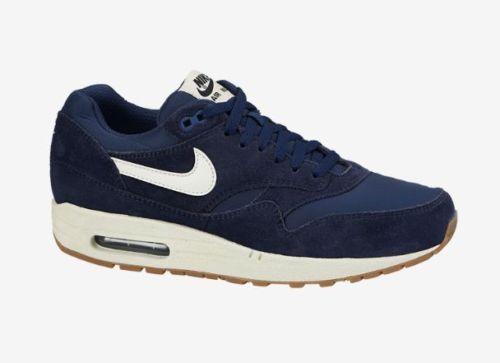 Nike Air Max 1 Essential Midnight Navy Blue Sail Suede Pack 537383 411 Shoe QS | eBay