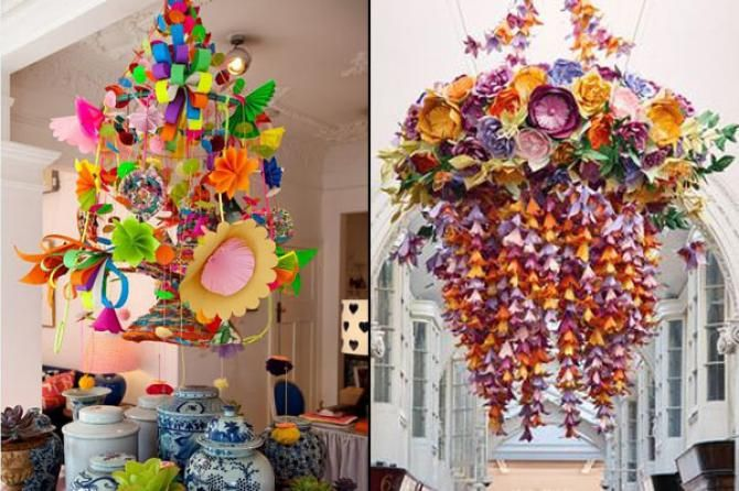 Use these chandeliers at the entrance and trust me they wont cost you much. These paper decors are very budget friendly and intersting.