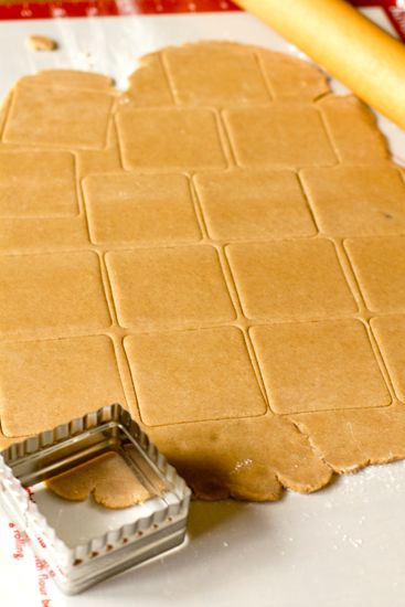 Homemade Graham Crackers- 1½ cups all-purpose flour 1⅓ cups graham flour 1 teaspoon baking soda ½ teaspoon kosher salt 1 cup unsalted butter, at room temperature 2/3 cup dark brown sugar 3 tablespoons honey