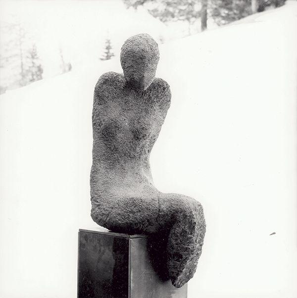 OT, sculpture in stone,  by artist Thaddäus Salcher