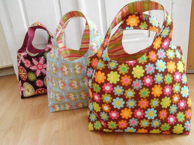 Schnittmuster für eine Wendetasche, perfekt zum Einkaufen / perfect shopping bag, diy sewing instruction by Valentina-Stoffe via DaWanda.com