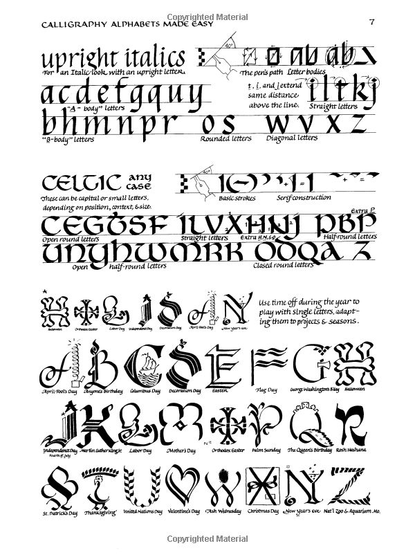 Calligraphy Alphabets Made Easy Perigee