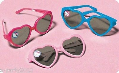 HELLO KITTY HEART SHAPED SUNGLASSES (12ct) ~ Birthday Party Supplies Favors