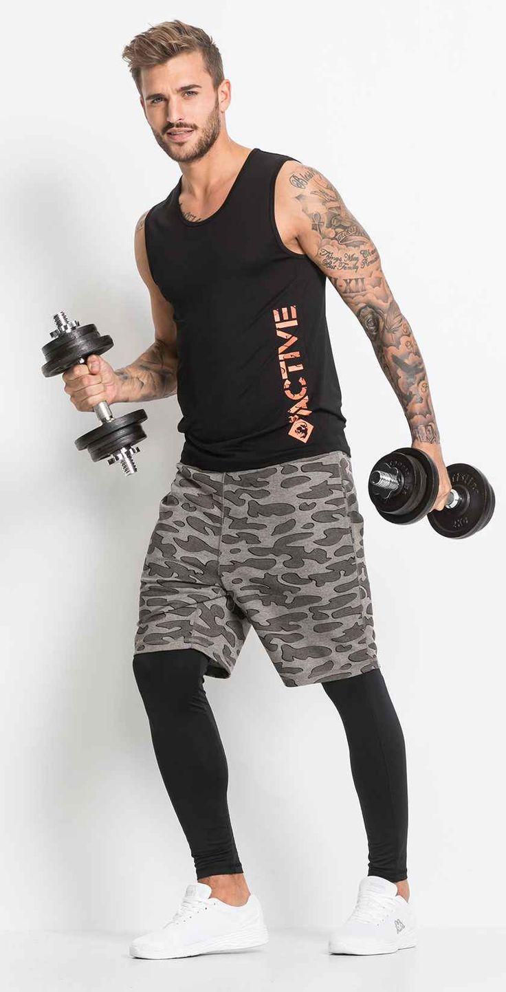 Herren-Sportbekleidung für viele Sportarten und sogar für die Freizeit.