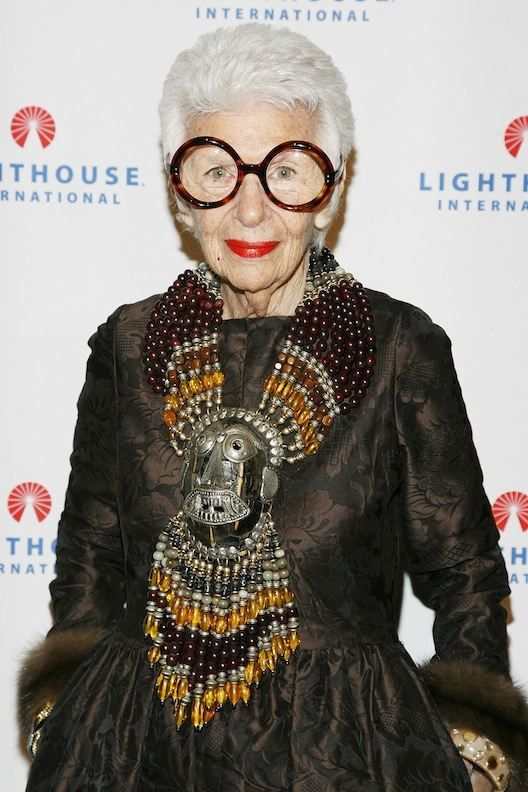 Iris Apfel!  91 and still going strong:)  Love her!