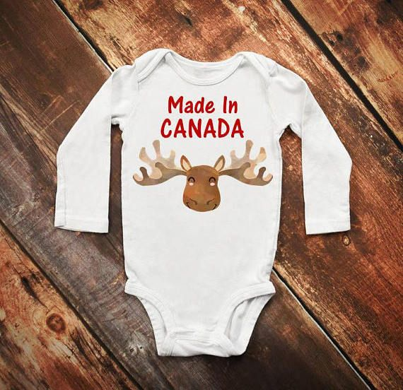 Check out this item in my Etsy shop https://www.etsy.com/ca/listing/533641486/made-in-canada-onesie-canada-onesie