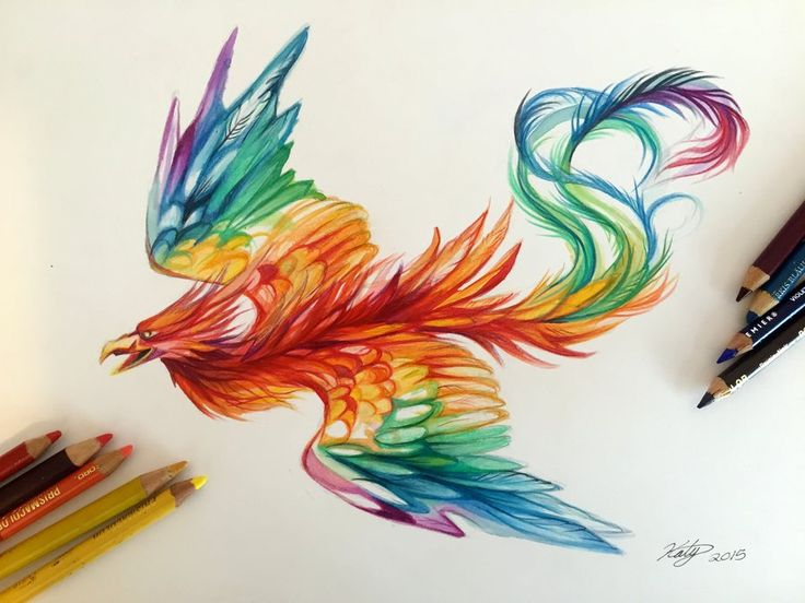 175- Rainbow Phoenix by Lucky978.deviantart.com on @DeviantArt
