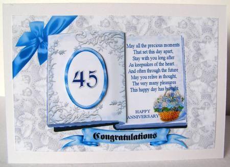 Blue Rose Basket 45th Wedding Anniversary On Craftsuprint Designed By Vicki Avcin