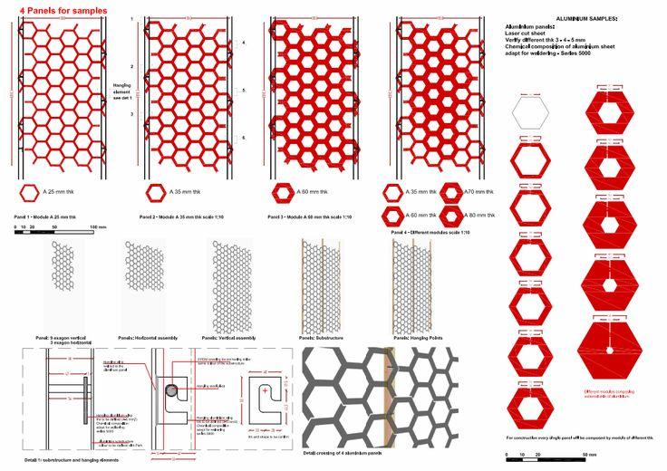 The Cube, Park Associati. diagram for aluminium panels