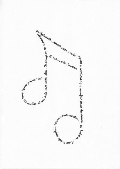 Tous poètes! - Calligrammes que j'aime beaucoup ...