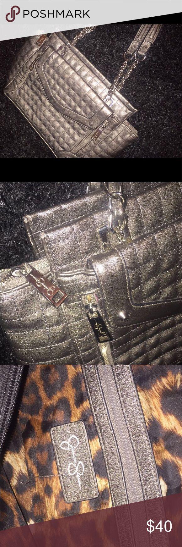 Jessica Simpson Metallic Silver Handbag Metallic Silver Jessica Simpson Purse Jessica Simpson Bags Hobos