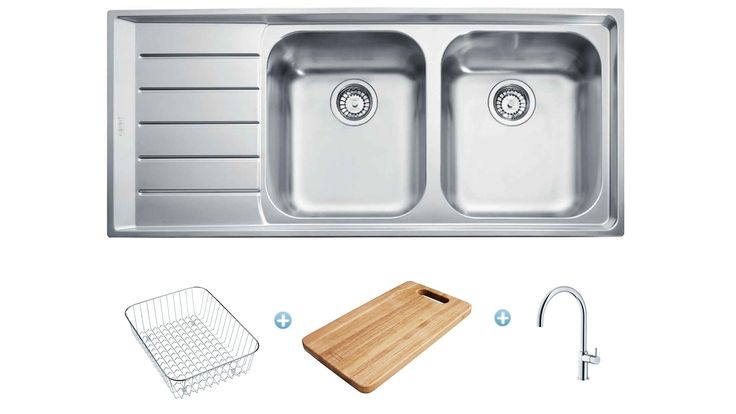 Franke Neptune Sink and Tap Package - Left Hand Drainer