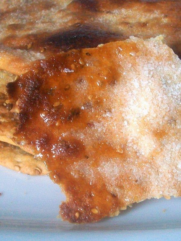 Las auténticas tortas de aceite con anís y sésamo! Crujientes, empiezas y no puedes parar... ... con su azúcar caramel...