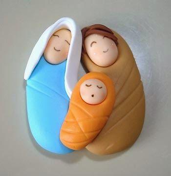 PAPIROLAS COLORIDAS: Nacimiento en porcelana fria