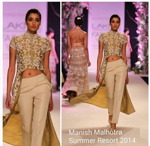 summer hues manish malhotra 2014 indowestern outfits