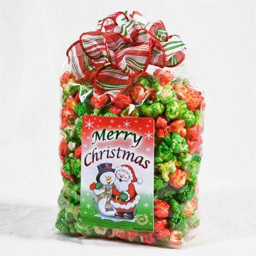 Christmas popcorn gift bags