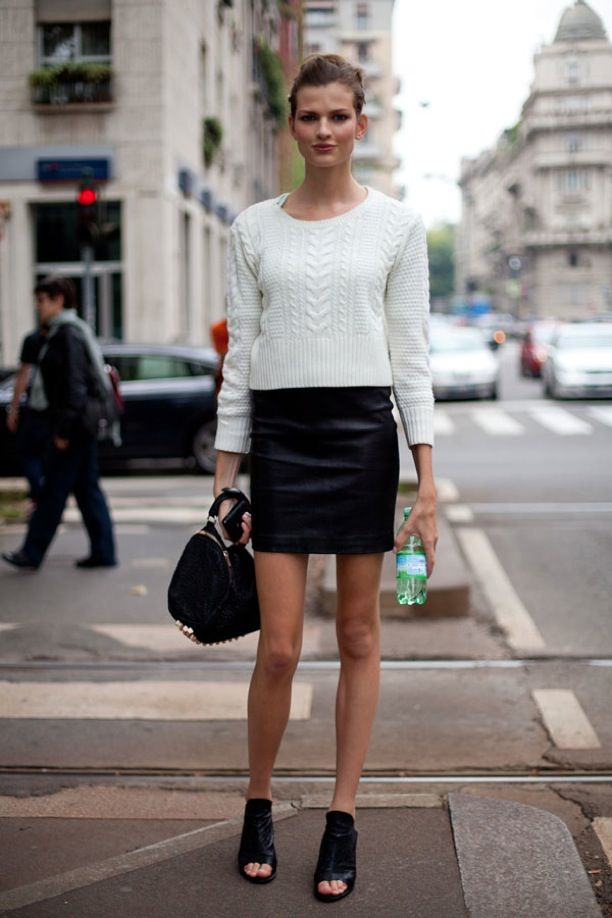 22 best leather skirt images on Pinterest
