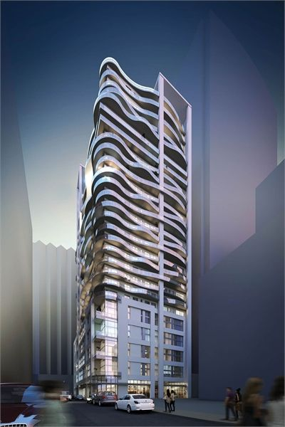 Le Peterson is a new condo development by Benvenuto Group and Malen Capital currently under construction at Rue de Bleury & Rue de la Concorde in Montreal.