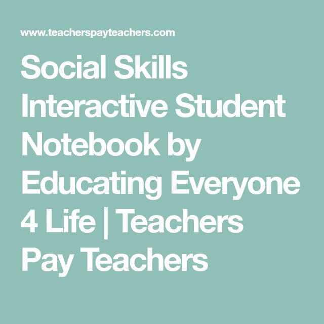 Social Skills Interactive Student Notebook by Educating Everyone 4 Life | Teachers Pay Teachers
