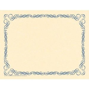 Arabesque Blue Border Paper! Design and create your very own special event invitation, program, diploma, award or certificate with this original preprinted border and your favorite word processor or page layout program. 50/pack