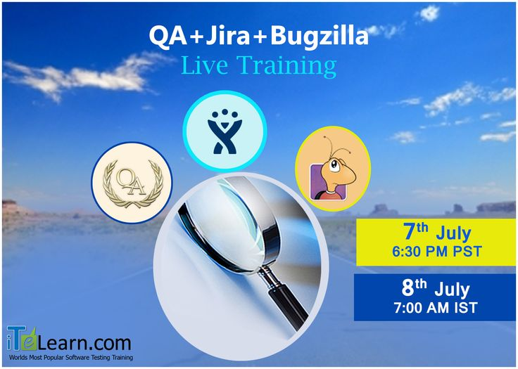http://www.itelearn.com/events/qamanual-live/ #QA+Jira+Bugzilla Live Training and Live Project Aiming high to get into your dream #job? This (QA+Jira+Bugzilla) Fast track #LiveTraining helps you in building your capabilities with things like building your potential with a good #project experience to get into your desired job. Don't miss this amazing opportunity with ITeLearn to make your dreams come true. Join us for a free orientation session on 07th July at 6.30 PM PST/8th July 7.00 AM IST